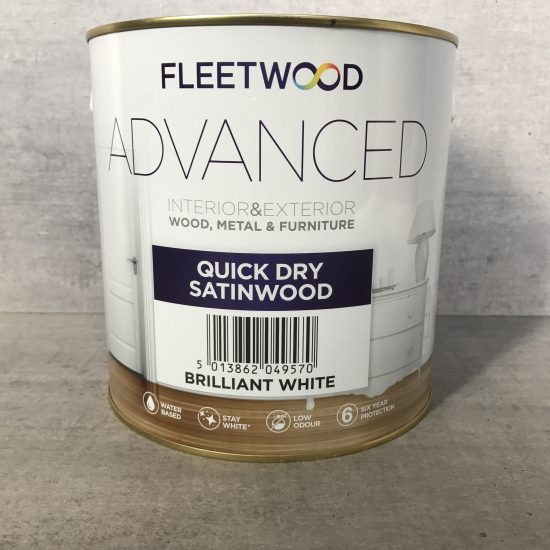Dažai Fleetwood Advanced Quick Dry Satinwood
